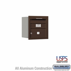 Salsbury 3704S-01ZRU 4C Mailboxes 1 Tenant Doors Rear Loading