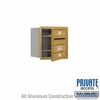 Salsbury 3704S-02GFP 4C Mailboxes 2 Tenant Doors Front Loading