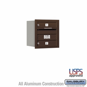 Salsbury 3704S-02ZRU 4C Mailboxes 2 Tenant Doors Rear Loading