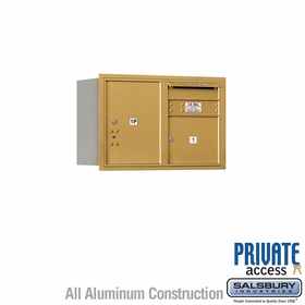 Salsbury 3705D-01GRP 4C Mailboxes 1 Tenant Doors Rear Loading
