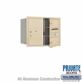 Salsbury 3706D-02SFP 4C Mailboxes 2 Tenant Doors Front Loading