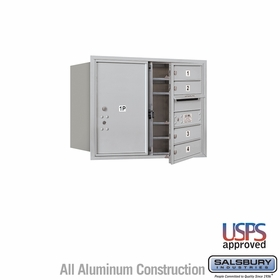 Salsbury 3706D-04AFU 4C Mailboxes 4 Tenant Doors Front Loading