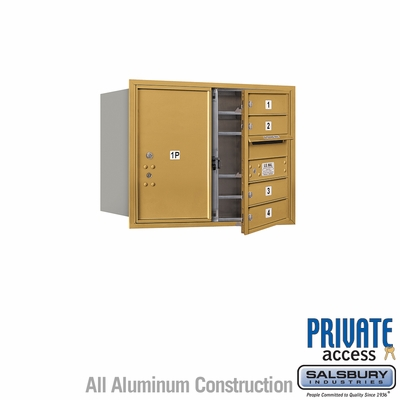Salsbury 3706D-04GFP 4C Mailboxes 4 Tenant Doors Front Loading