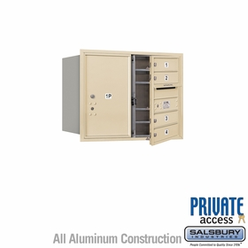 Salsbury 3706D-04SFP 4C Mailboxes 4 Tenant Doors Front Loading