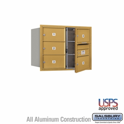 Salsbury 3706D-05GFU 4C Mailboxes 5 Tenant Doors Front Loading