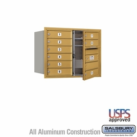 Salsbury 3706D-09GFU 4C Mailboxes 9 Tenant Doors Front Loading