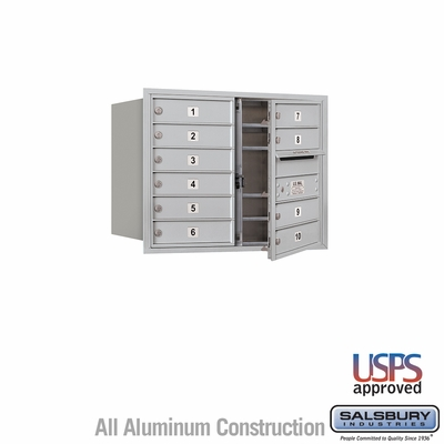 Salsbury 3706D-10AFU 4C Mailboxes 10 Tenant Doors Front Loading