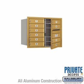 Salsbury 3706D-10GFP 4C Mailboxes 10 Tenant Doors Front Loading