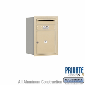 Salsbury 3706S-01SRP 4C Mailboxes 1 Tenant Doors Rear Loading