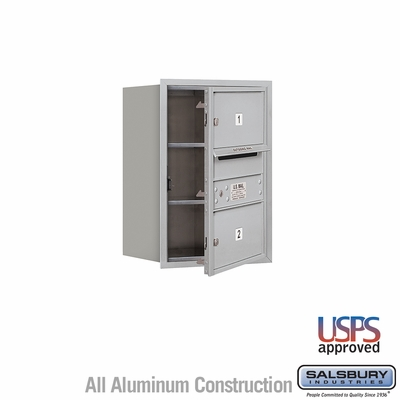 Salsbury 3706S-02AFU 4C Mailboxes 2 Tenant Doors Front Loading