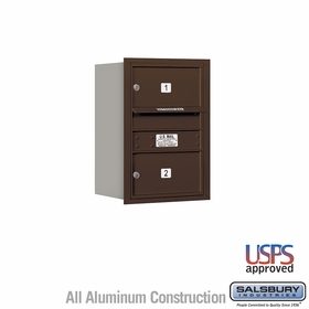 Salsbury 3706S-02ZRU 4C Mailboxes 2 Tenant Doors Rear Loading
