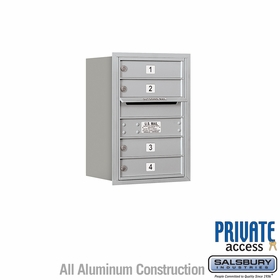 Salsbury 3706S-04ARP 4C Mailboxes 4 Tenant Doors Rear Loading