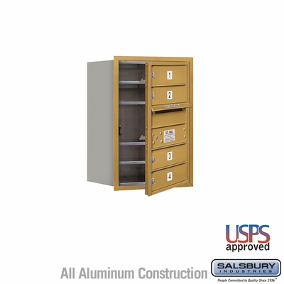 Salsbury 3706S-04GFU 4C Mailboxes 4 Tenant Doors Front Loading