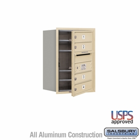Salsbury 3706S-04SFU 4C Mailboxes 4 Tenant Doors Front Loading