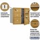 Salsbury 3707D-05GFP 4C Mailboxes 5 Tenant Doors Front Loading