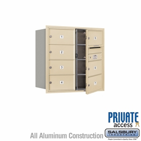 Salsbury 3708D-07SFP 4C Mailboxes 7 Tenant Doors Front Loading