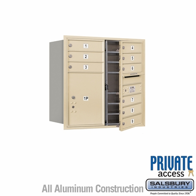 Salsbury 3708D-09SFP 4C Mailboxes 9 Tenant Doors Front Loading
