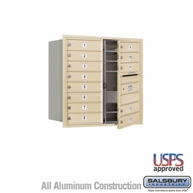 Salsbury 3708D-13SFU 4C Mailboxes 13 Tenant Doors Front Loading
