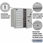 Salsbury 3708D-14AFP 4C Mailboxes 14 Tenant Doors Front Loading