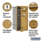 Salsbury 3708S-01GFU 4C Mailboxes 1 Tenant Doors Front Loading