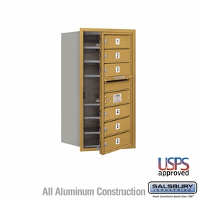 Salsbury 3708S-06GFU 4C Mailboxes 6 Tenant Doors Front Loading
