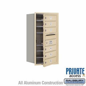 Salsbury 3708S-06SFP 4C Mailboxes 6 Tenant Doors Front Loading
