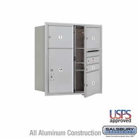 Salsbury 3709D-04AFU 4C Mailboxes 4 Tenant Doors Front Loading