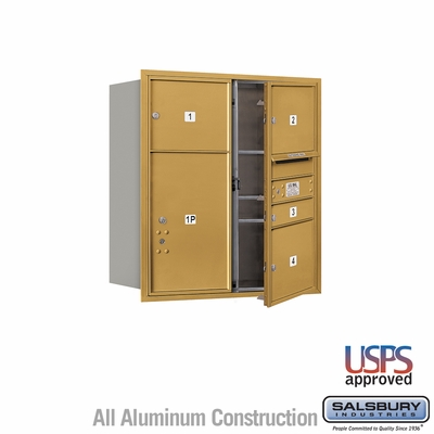 Salsbury 3709D-04GFU 4C Mailboxes 4 Tenant Doors Front Loading