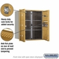 Salsbury 3709D-06GFP 4C Mailboxes 6 Tenant Doors Front Loading