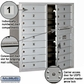 Salsbury 3709D-16AFU 4C Mailboxes 16 Tenant Doors Front Loading