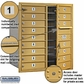 Salsbury 3709D-16GFP 4C Mailboxes 16 Tenant Doors Front Loading