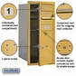 Salsbury 3709S-02GFP 4C Mailboxes 2 Tenant Doors Front Loading