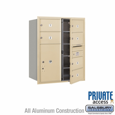 Salsbury 3710D-06SFP 4C Mailboxes 6 Tenant Doors Front Loading