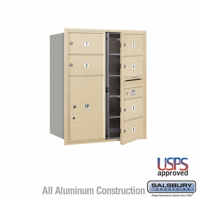 Salsbury 3710D-06SFU 4C Mailboxes 6 Tenant Doors Front Loading