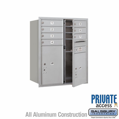 Salsbury 3710D-07AFP 4C Mailboxes 7 Tenant Doors Front Loading