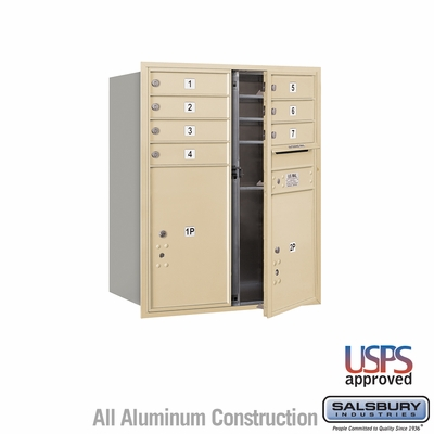 Salsbury 3710D-07SFU 4C Mailboxes 7 Tenant Doors Front Loading