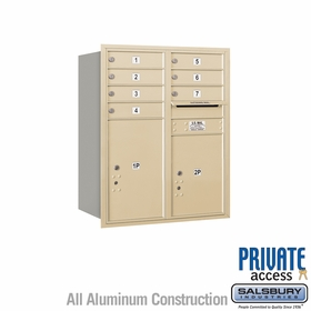 Salsbury 3710D-07SRP 4C Mailboxes 7 Tenant Doors Rear Loading