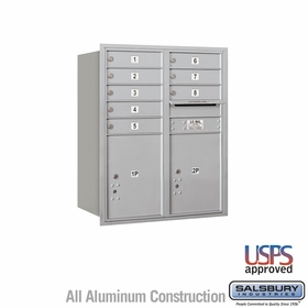 Rear Loading Horizontal Mailboxes 7 to 8 Doors