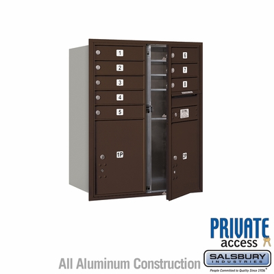 Salsbury 3710D-08ZFP 4C Mailboxes 8 Tenant Doors Front Loading
