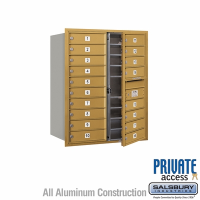 Salsbury 3710D-18GFP 4C Mailboxes 18 Tenant Doors Front Loading