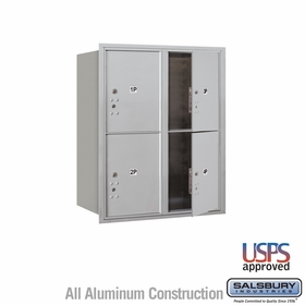 Salsbury 3710D-4PAFU 4C Mailboxes 4 Parcel Lockers Front Loading