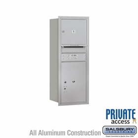 Salsbury 3710S-01ARP 4C Mailboxes 1 Tenant Doors Rear Loading