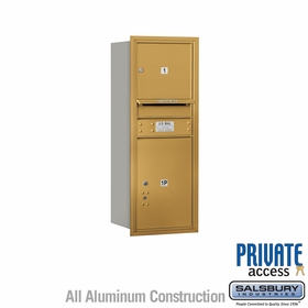 Salsbury 3710S-01GRP 4C Mailboxes 1 Tenant Doors Rear Loading