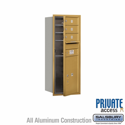 Salsbury 3710S-03GFP 4C Mailboxes 3 Tenant Doors Front Loading