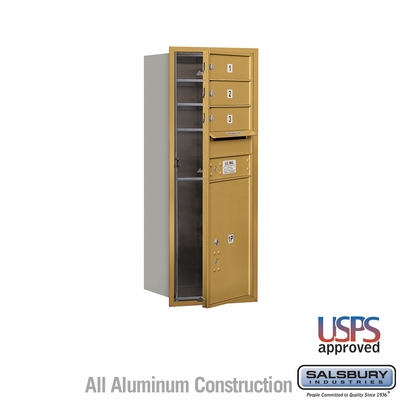 Salsbury 3710S-03GFU 4C Mailboxes 3 Tenant Doors Front Loading