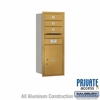 Salsbury 3710S-03GRP 4C Mailboxes 3 Tenant Doors Rear Loading