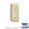 Salsbury 3710S-03SRP 4C Mailboxes 3 Tenant Doors Rear Loading