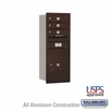 Salsbury 3710S-03ZRU 4C Mailboxes 3 Tenant Doors Rear Loading