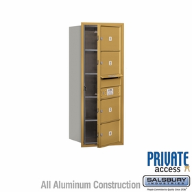 Salsbury 3710S-04GFP 4C Mailboxes 4 Tenant Doors Front Loading