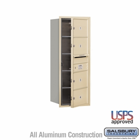 Salsbury 3710S-04SFU 4C Mailboxes 4 Tenant Doors Front Loading